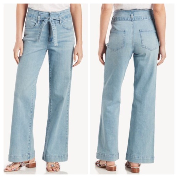 Vince Camuto Denim - Vince Camuto Belted Wide-Leg Jeans Size 27/4